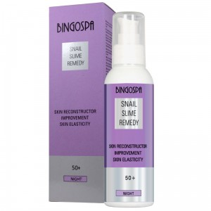 BINGOSPA Skin Reconstructor, Improvement Skin Elasticity - Night Cream 50+ With Snail Slime