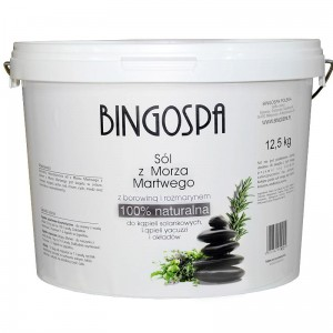 BingoSpa Natural Dead Sea Salt With Peat And Rossmarin 12,5 kg