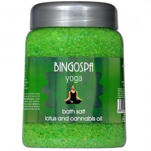 Bath salt  lotus & cannabis oil BINGOSPA Yoga 850 g