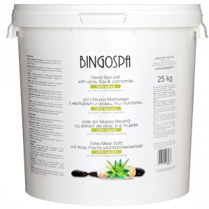 BingoSpa 100% Natural Dead Sea Salt With Aloevera, Flax And Chamomille Extracts 25 kg
