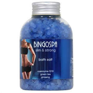 BINGOSPA Bath Salt - Coenzyme Q10, Green Tea,  Ginseng - slim & strong